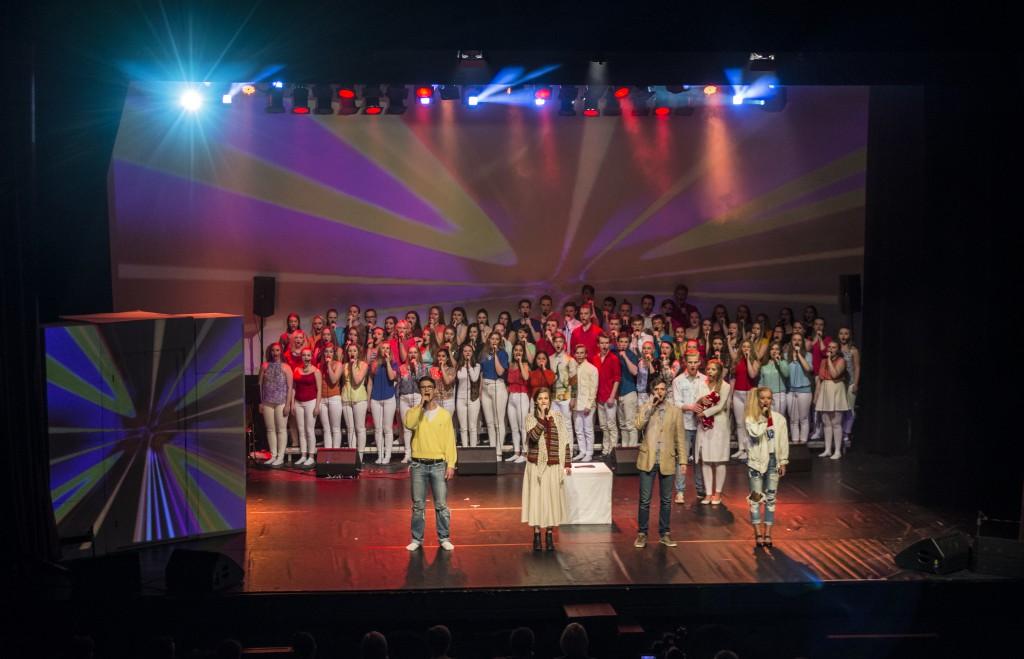 Premieren på musikalen 2016 var eit stort show, og ei verdig tjueårsmarkering. Foto: Malin Nordby Kvamme